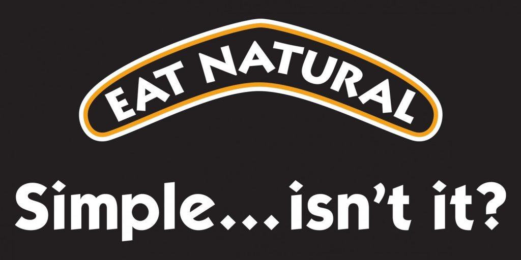 Eat Natural logo (on black)